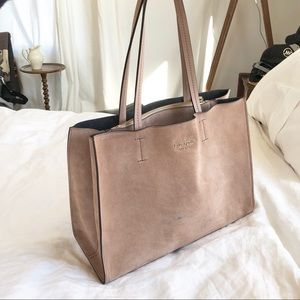 Kate spade triple compartment suede tote